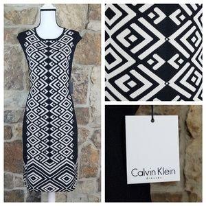 NWT Calvin Klein XL Diamond Knit Sheath Dress